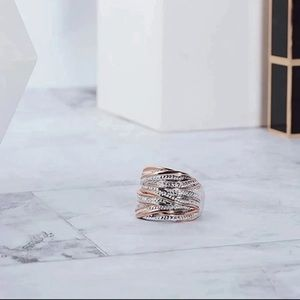 Rose Gold & Silver Braided Ring